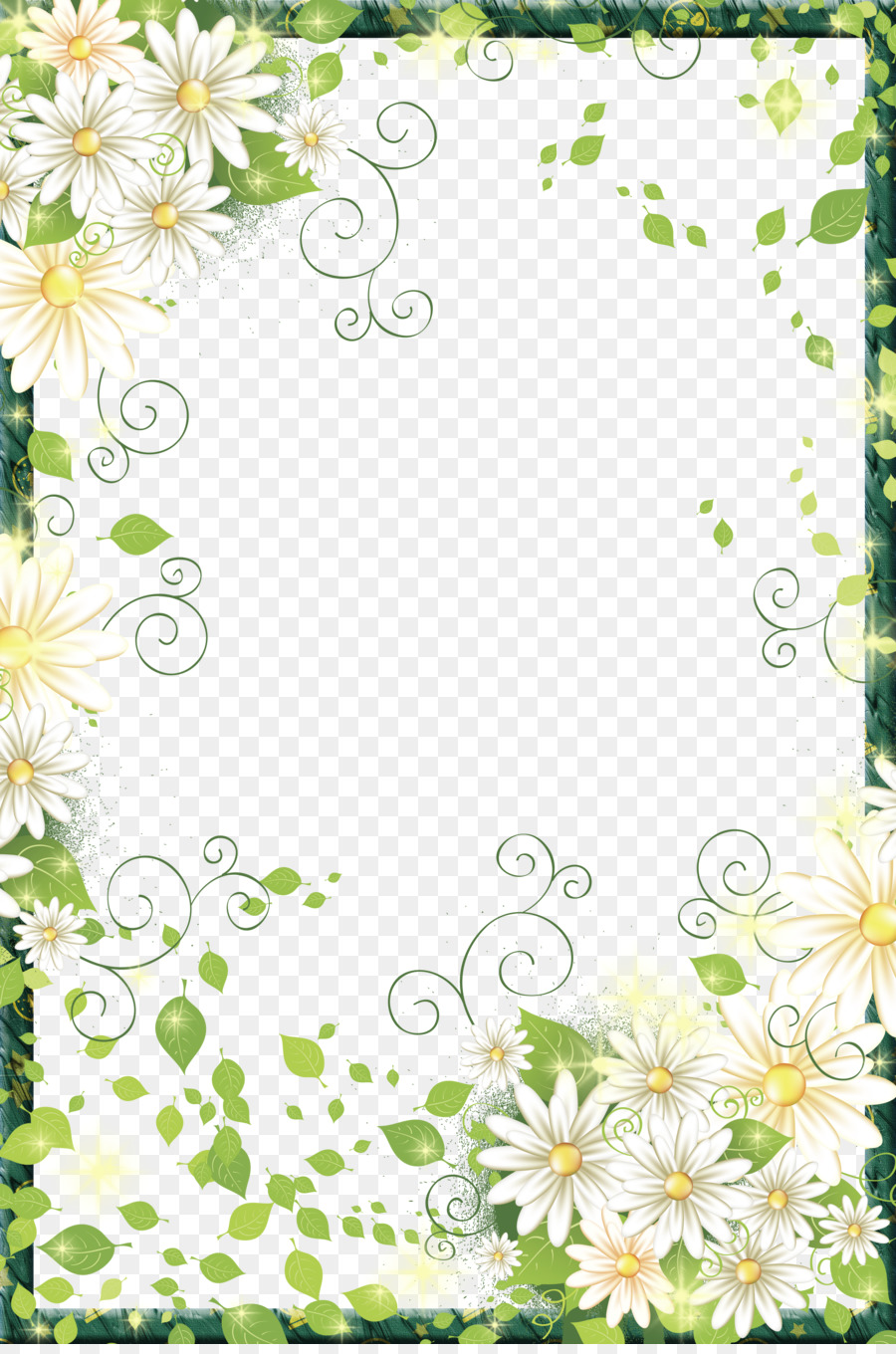 Border Flowers Picture frame Digital photo frame - Beautiful Flowers ...