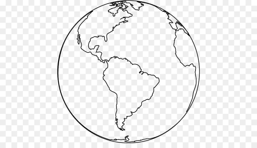 La tierra libro para Colorear Página del Niño Globo - La tierra png ...