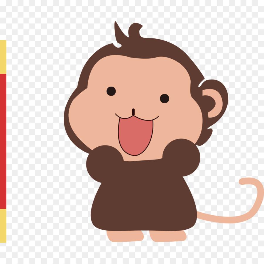 monkey cartoon infant child cartoon baby monkey