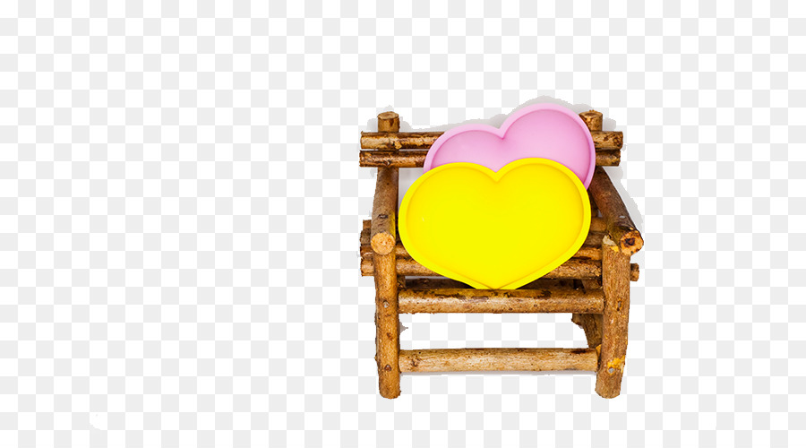 Dakimakura Chair Yellow   Heart Shaped Pillow Chair