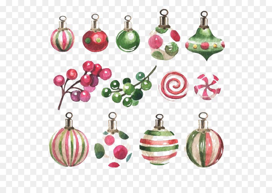 Bolas Navidad Christmas Ornament Watercolor Painting Vase