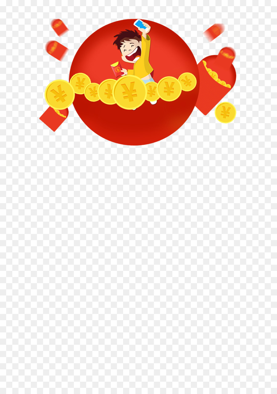 Red Envelope Illustration Chinese New Year Decoration Gold Free