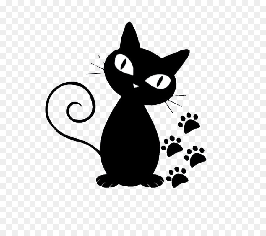 Persian Cat Norwegian Forest Kitten Black Cartoon