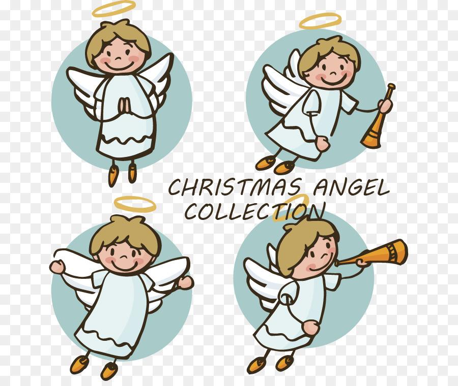 Angel Christmas Coloring book Nativity scene Clip art - Hand drawn ...