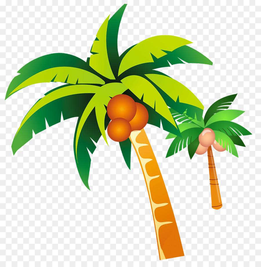 Summer Clip art - coconut tree png download - 2000*2041 ...