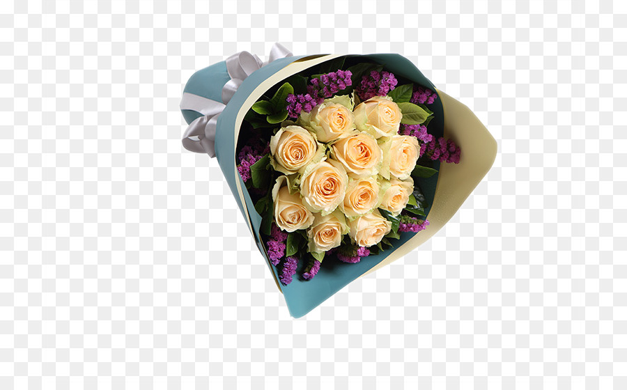 Champagne Flower bouquet Purple - Rose champagne purple forget-me ...