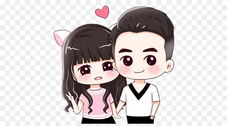 Cute pig cartoon couple