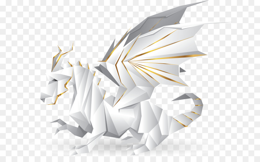 Paper Origami Illustration White Horse Folded Paper Png Download