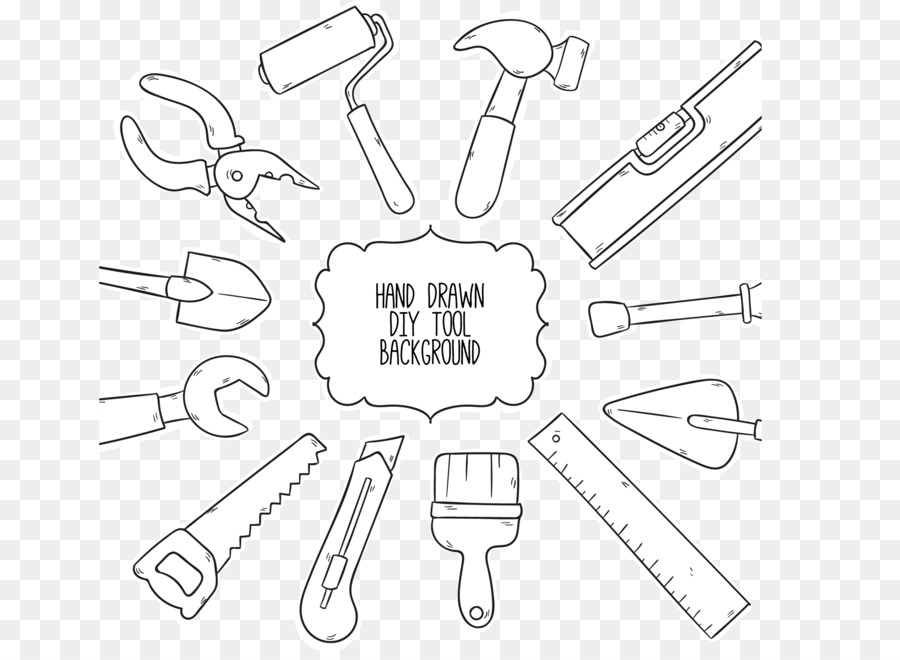 Tool Clip art - Carpentry background drawing tools by hand png ...