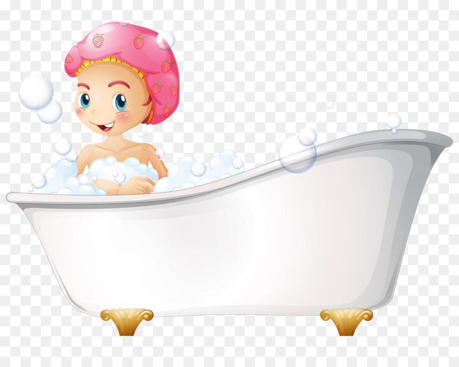 Bathing Poster Bathtub Illustration - Baby bath beautiful picture ...