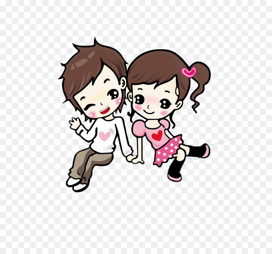 Cartoon Animation Love Drawing Couple Together Cartoon Cute Couple