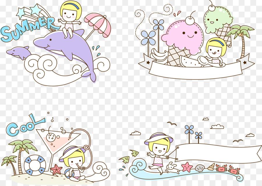 El verano de Páginas para Colorear para los Niños de la Ilustración ...