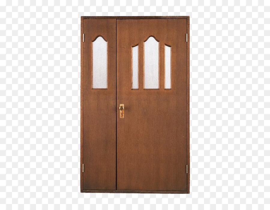 Cupboard Door Wardrobe Wood Stain Brown Decorative Glass