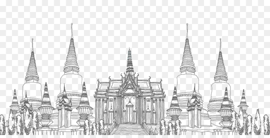 architecture buildings drawings. Delighful Buildings Thailand Architecture Building  Line Drawing Thai Temple Intended Buildings Drawings