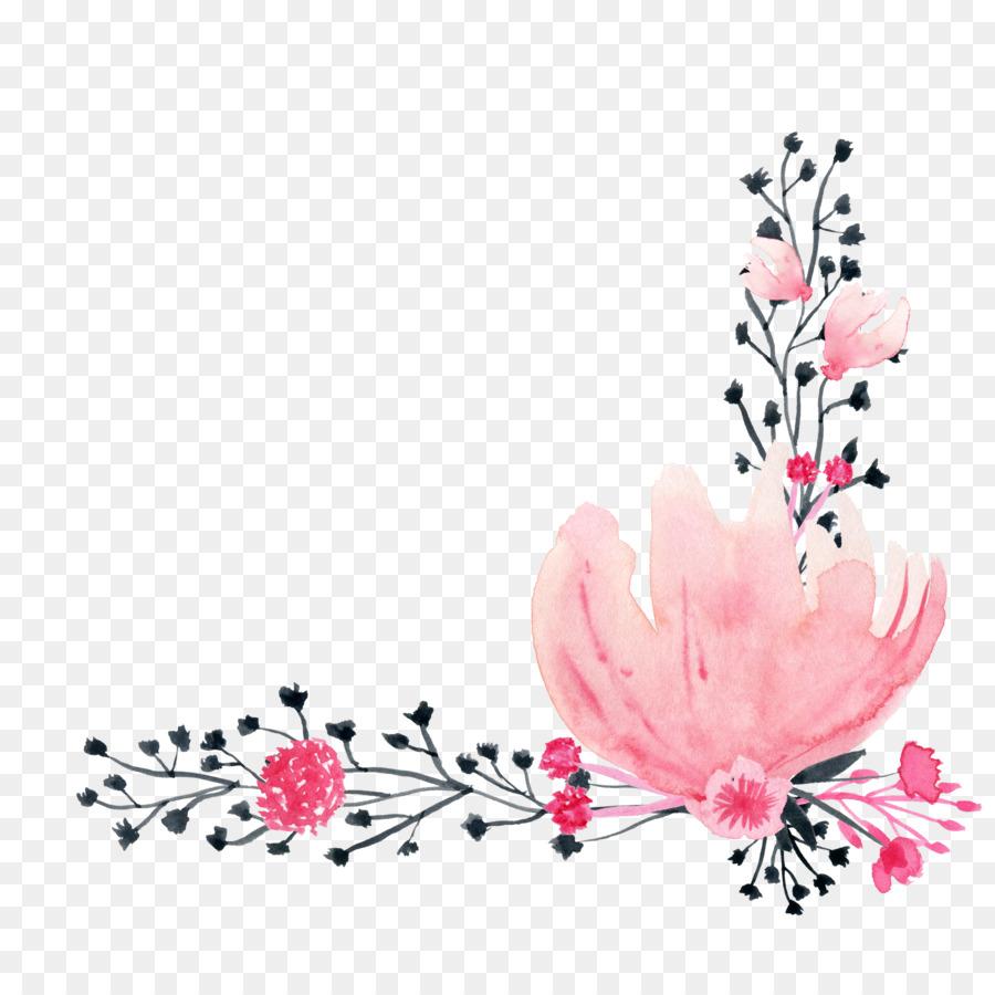 Peinture A L Aquarelle Dessin A L Encre Rose A L Aquarelle Fleurs