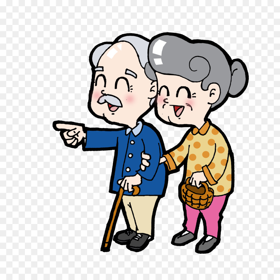 cartoon double ninth festival old age elderly couple png download rh kisspng com