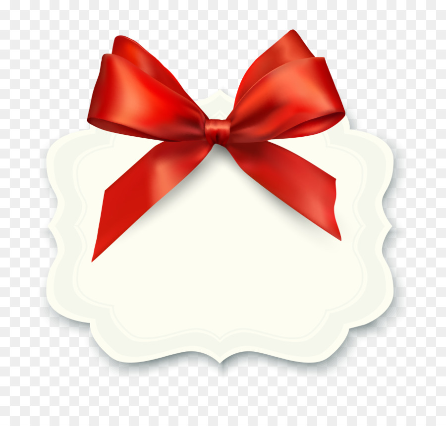 Gift Ribbon Illustration Vector Red Bow Birthday Card Png Download