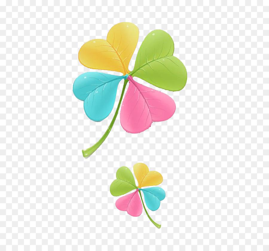 Dört Yapraklı Yonca Yeşil Renkli Yonca Png Indir 560840