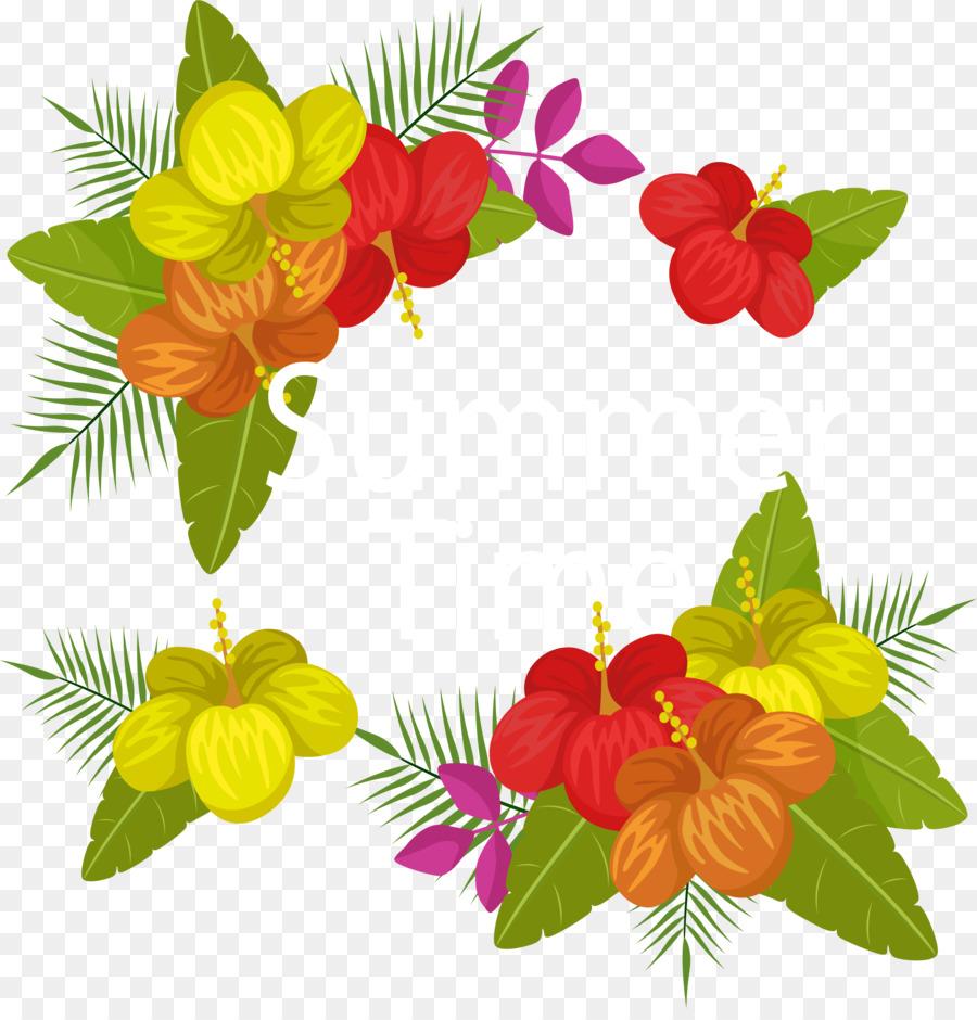 Floral Design Flower Summer Euclidean Vector Beautiful Summer Time
