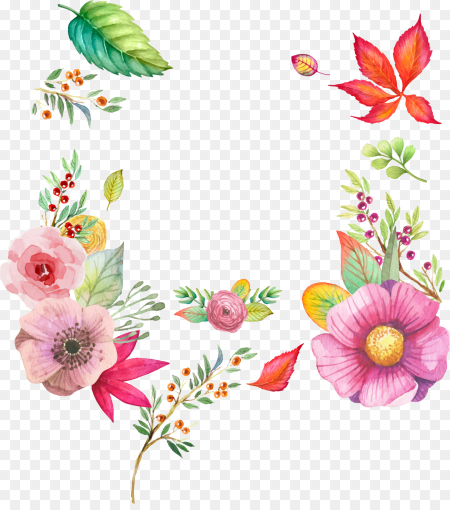 Watercolour Flowers Watercolor Painting Watercolor Autumn Flowers