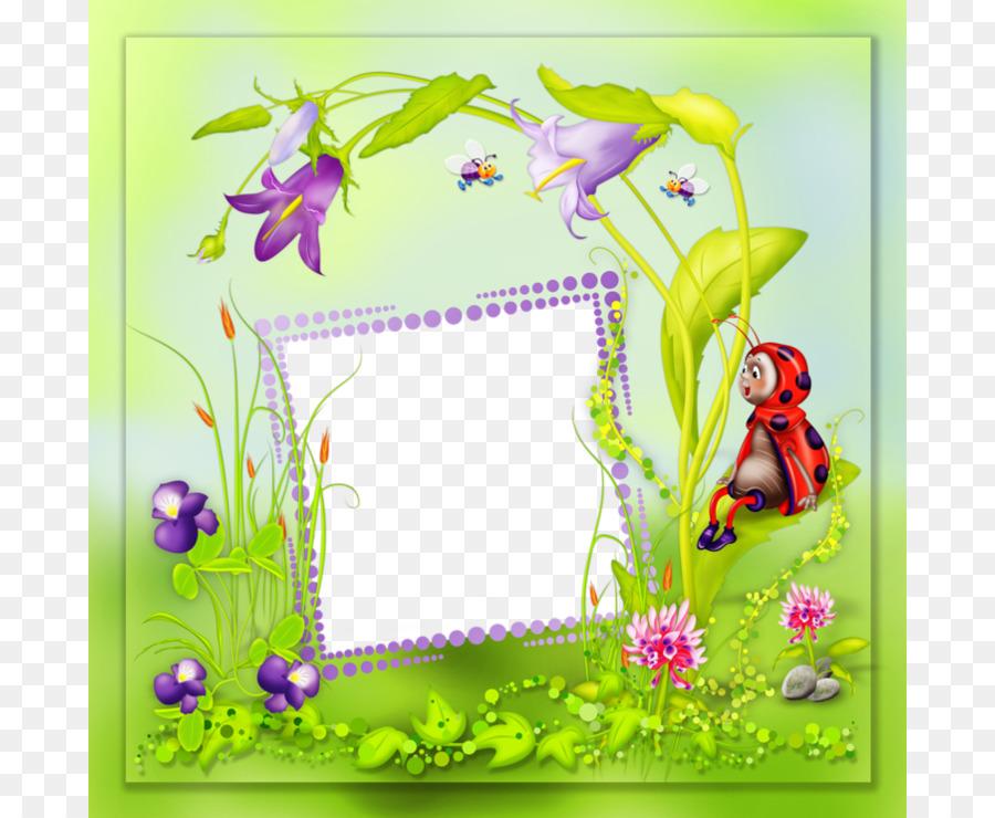 Hummingbird Paper Flower Wallpaper Ladybug Decorative Frame Png