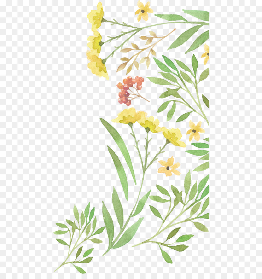 Wedding invitation Flower Watercolor painting Clip art - Watercolor ...