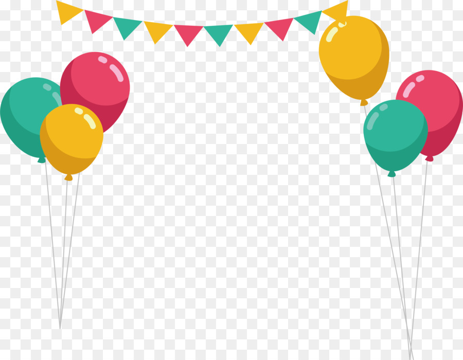 Balloon Party Birthday - Color balloon beam frame png download ...