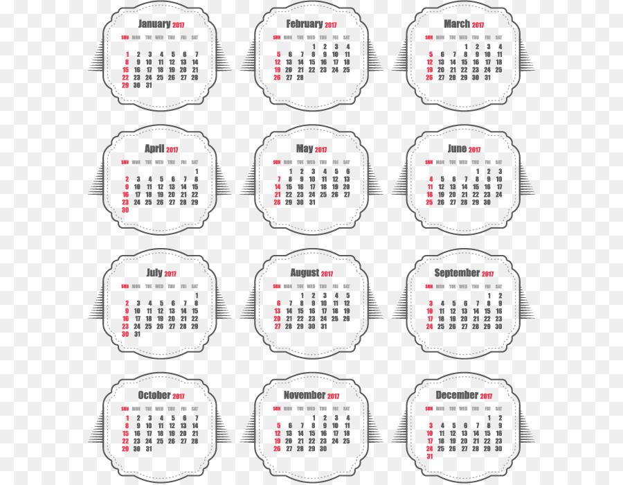 calendar download clip art grey seal style new year calendar
