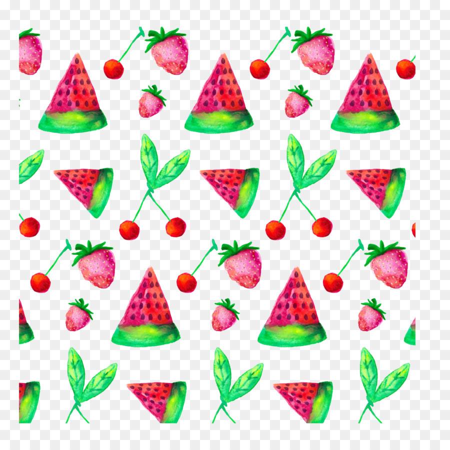 Meyve Karpuz Auglis Elle Boyanmış Karpuz Dilimleri çilek Kiraz