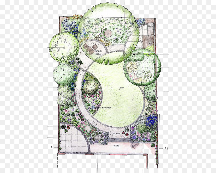 Garden Design Page Layout Flower Garden   City Garden Painted Renderings