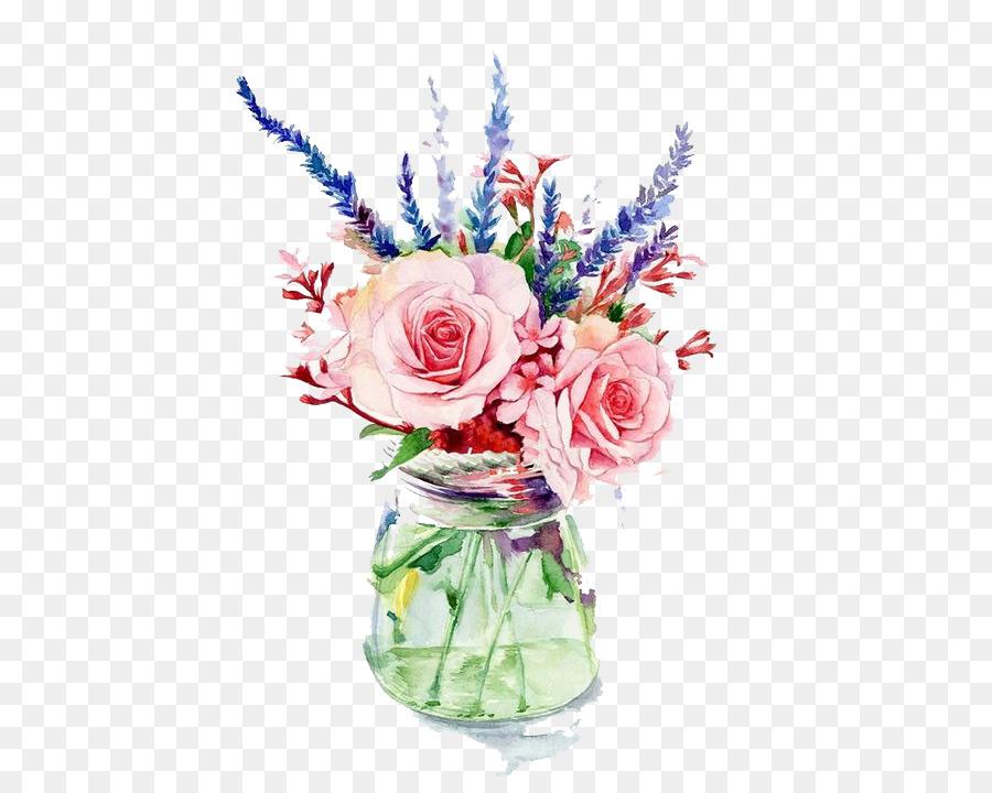 Garden roses vase flower watercolor painting pink flowers png garden roses vase flower watercolor painting pink flowers mightylinksfo