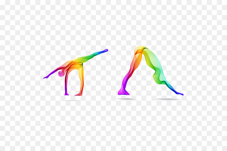 El Yoga de Color libre de Regalías Ilustración - Yoga elementos de ...