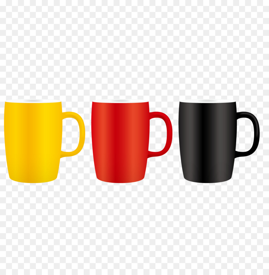 coffee cup mug three color mugs png download 1500 1501 free