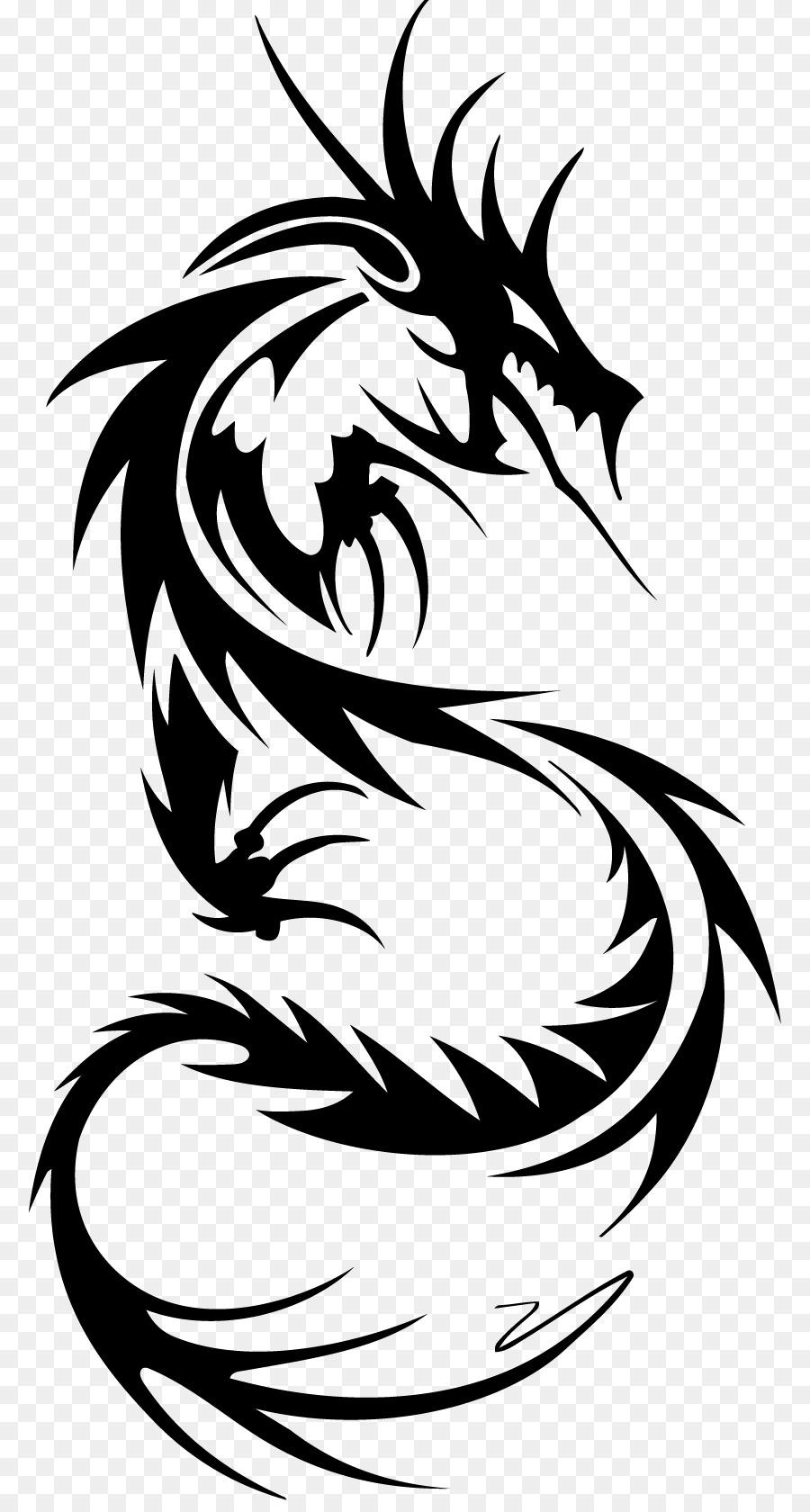 Sleeve Tattoo Tribe Nautical Star Dragon Dragon Png Download 836