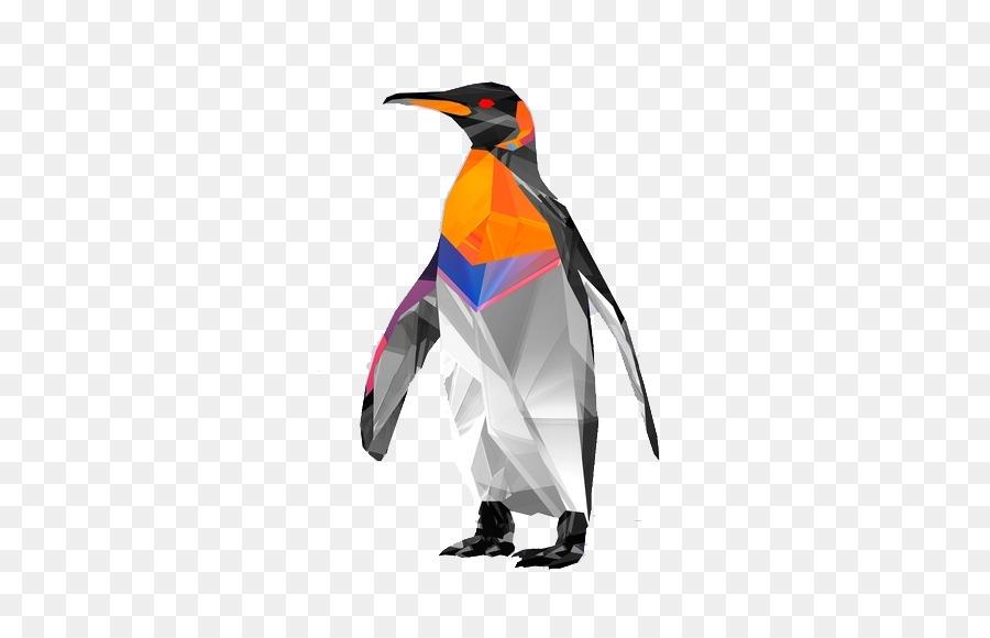 Pingüino De Aves Polígono De La Geometría De Fondo De Pantalla ...