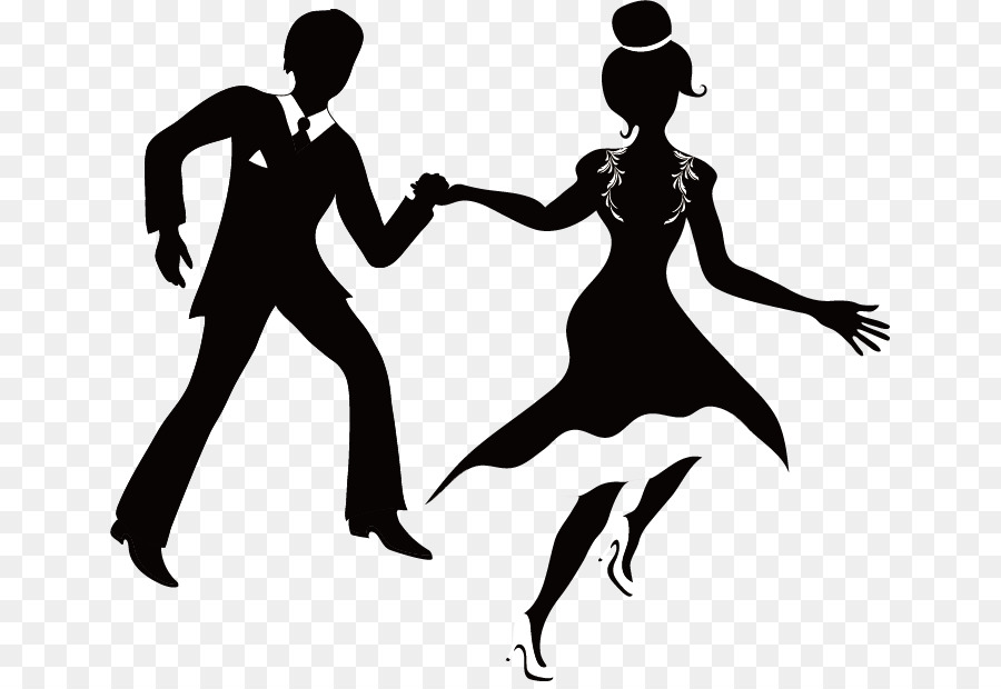Wedding Invitation Clip Art   Silhouette Couple Running