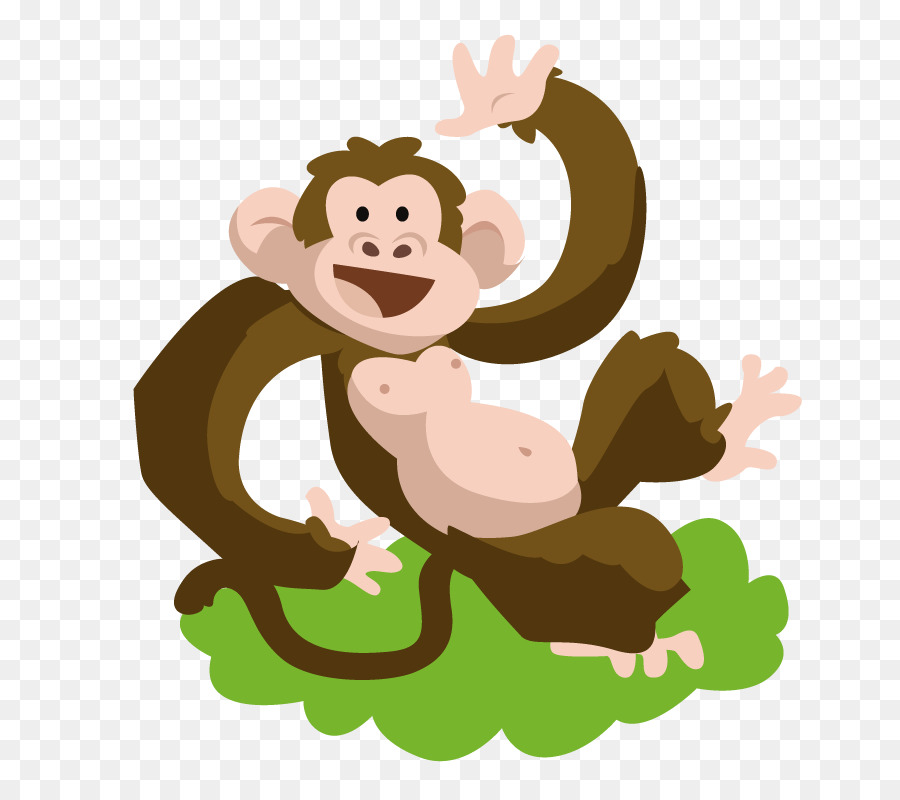 Monkey Cartoon png download - 783*784 - Free Transparent