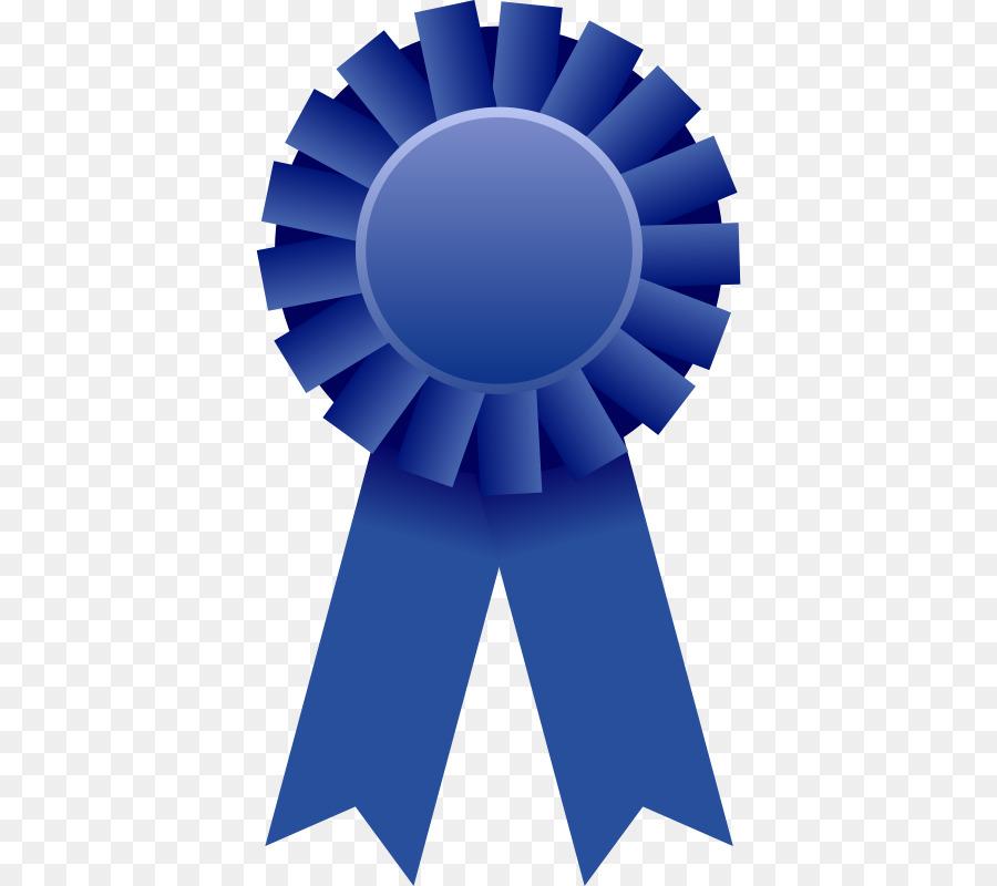 Ribbon Award Clip art - Free blue medal pull material png ...