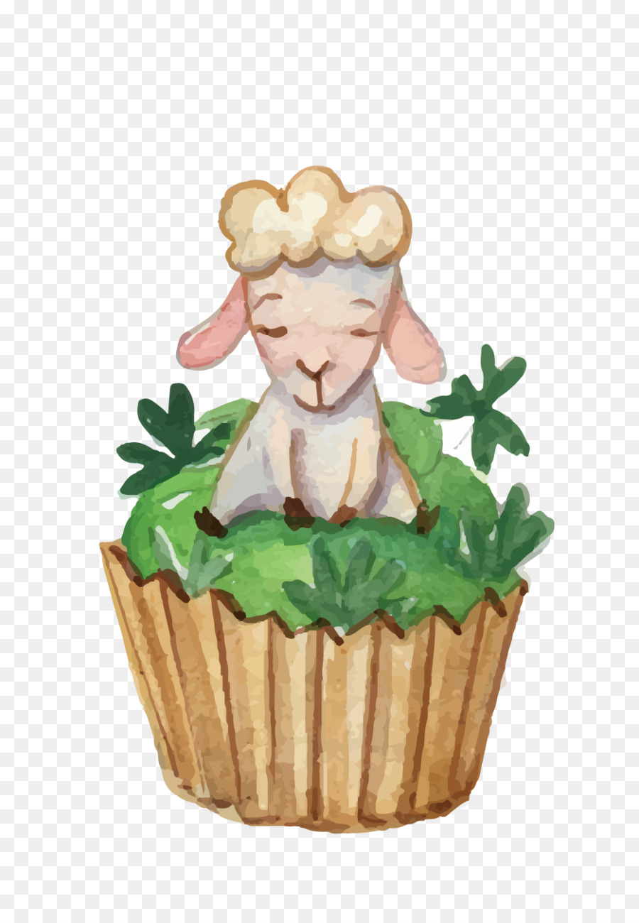 Easter Bunny Easter Cake Cupcake Birthday Cake Illustration Sheep