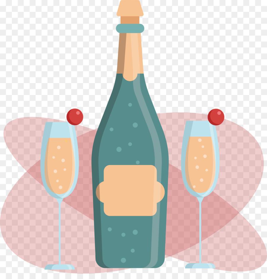 Champagne Drawing Cartoon Gift Cartoon Birthday Gift Vector Png