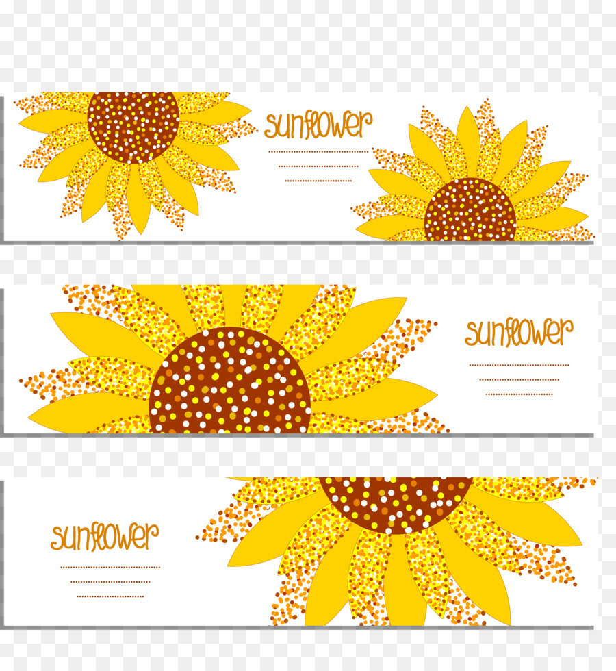 Common Sunflower Banner Sunflower Greeting Card Png Download
