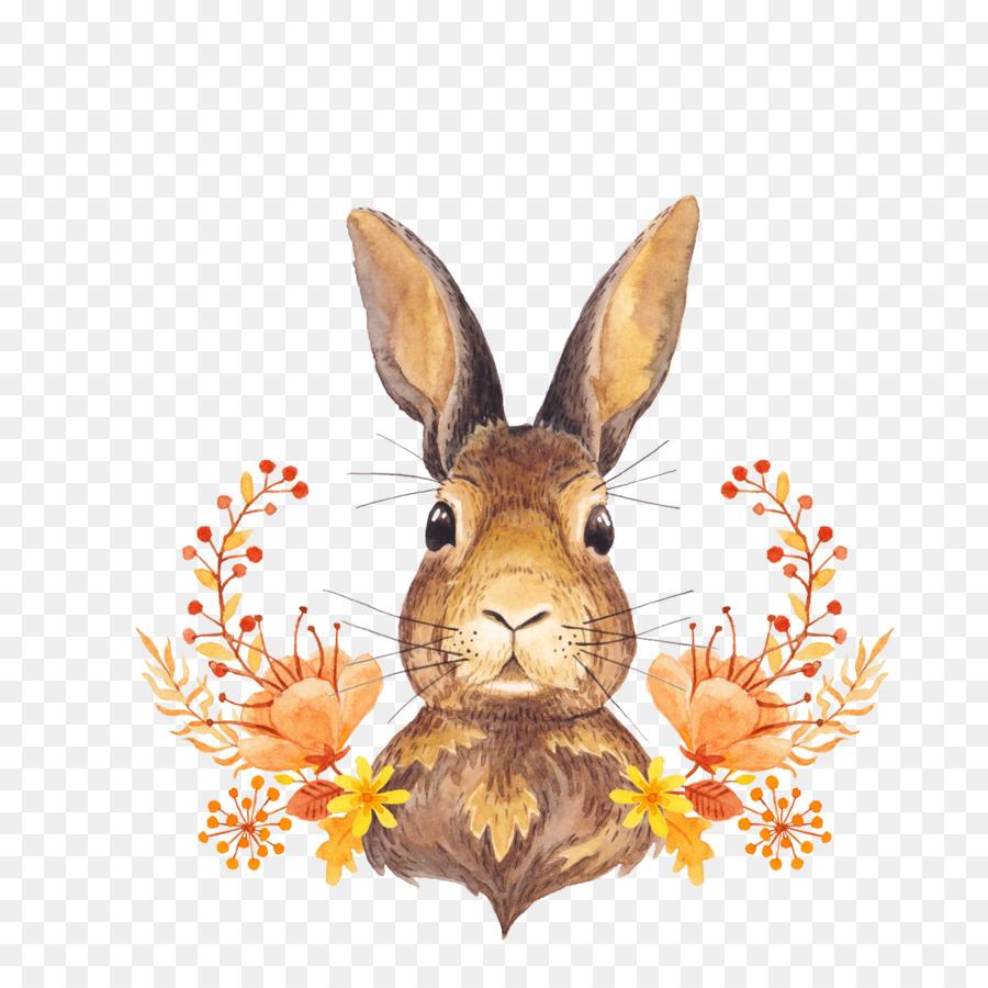 Hoja de otoño el color de la Acuarela en Papel - Conejito de roseta ...