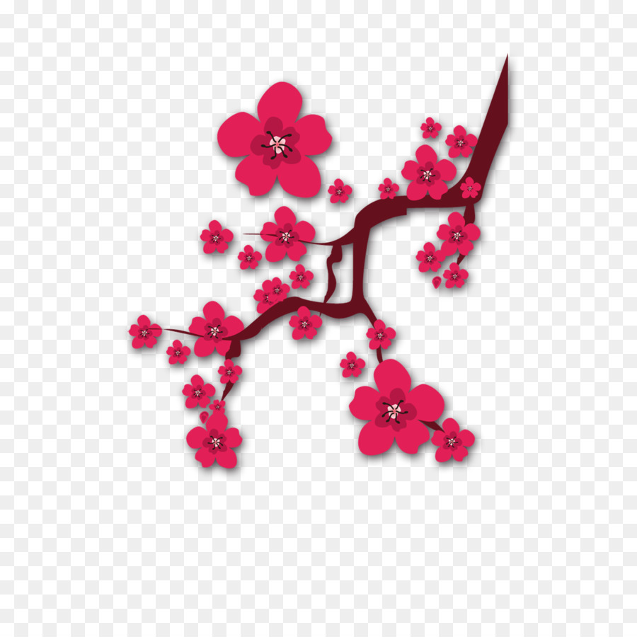 plum blossom download chinese new year clip art - plum flower png