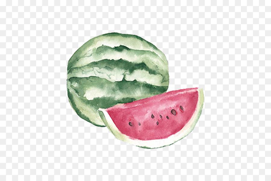 Meyve Auglis Küçük Resim El Boyama Meyve Karpuz Sulu Boya Boyalı