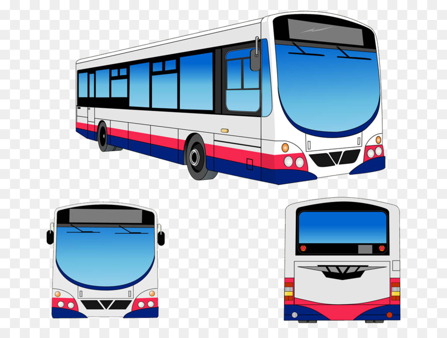 Transit Bus Public Transport Clip Art   Cartoon Creative Modern City Bus