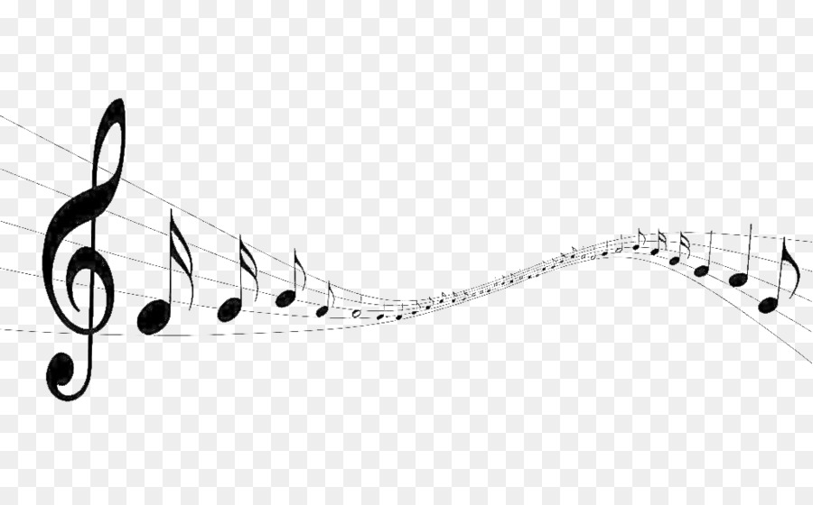 Musical Note Black And White Wallpaper
