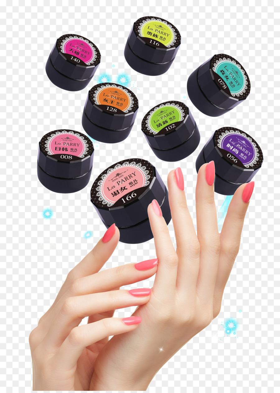 Nail polish Poster Nail art - Hand nail polish glue posters png ...