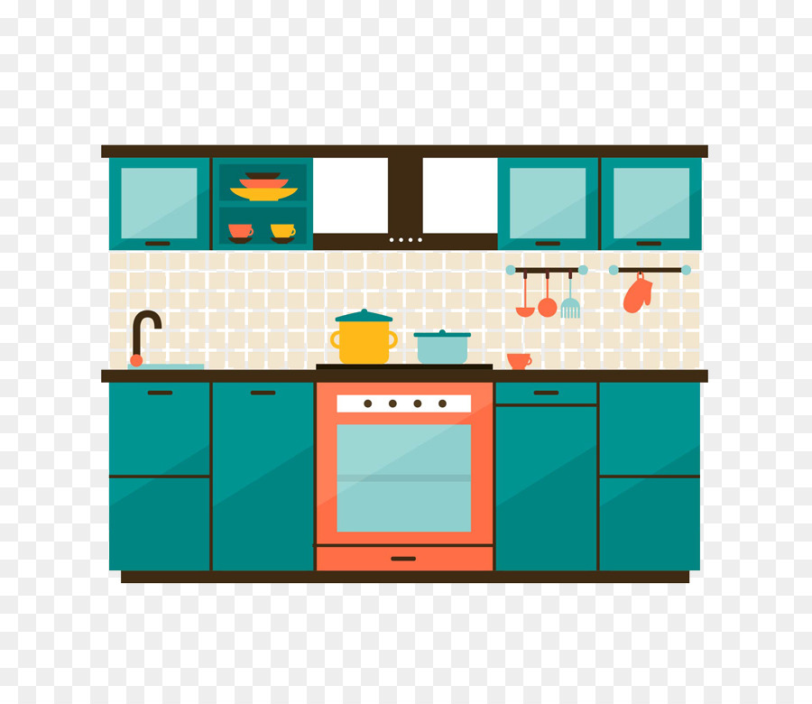 Delightful Kitchen Cabinet Kitchenette   Color Kitchen Design Vector