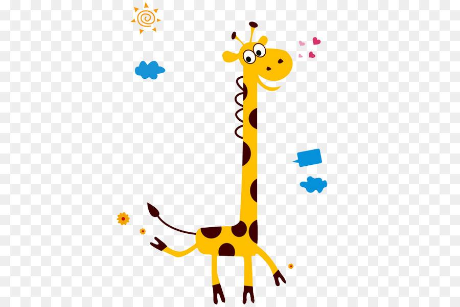 Giraffe Wall Decal Growth Chart Giraffe Png Download 600600