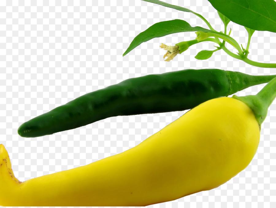зелёный и жёлтый перец чили